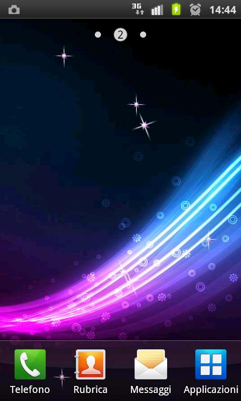 Glitter Blue live wallpaper - screenshot