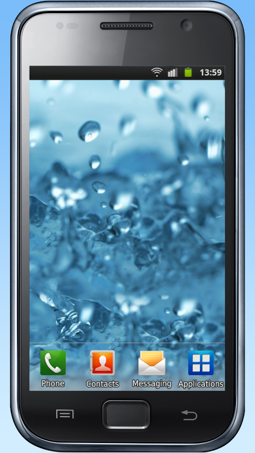 Water drops live wallpaper- screenshot
