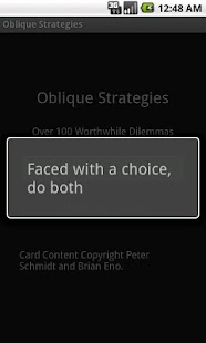 Deprecated-Oblique Strategies- screenshot thumbnail