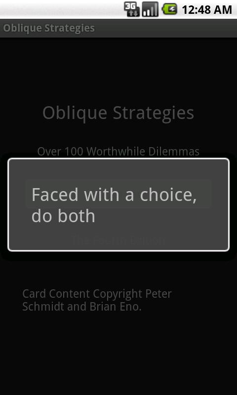 Deprecated-Oblique Strategies- screenshot