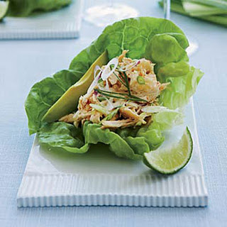 Spicy Asian-Chicken-Salad Lettuce Cups.