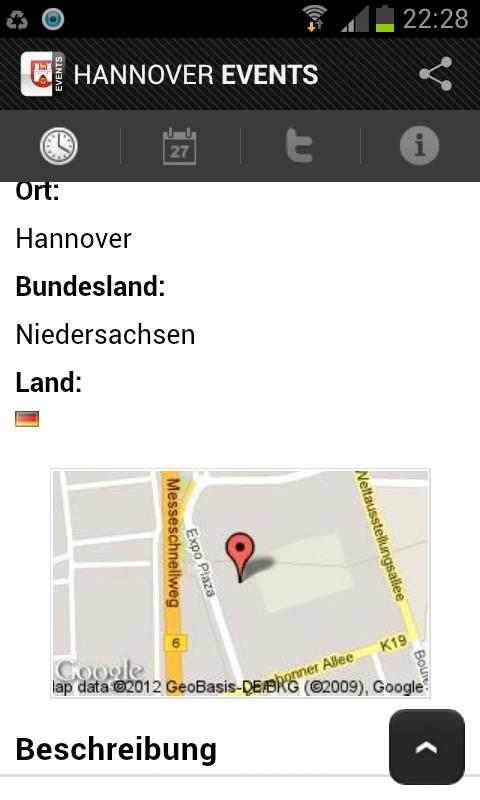 HANOVER EVENTS › Eventguide - screenshot