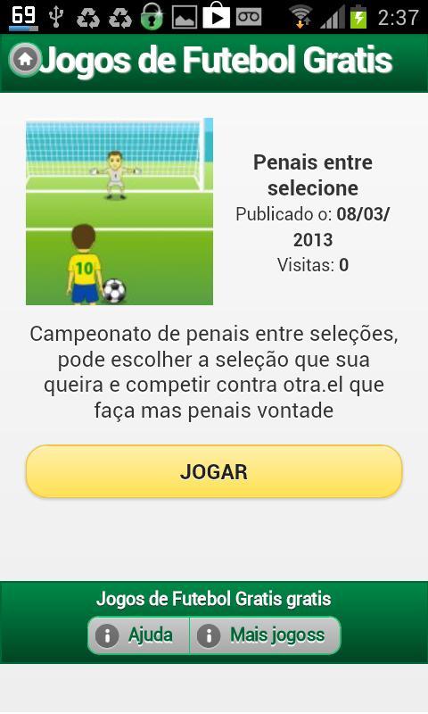 Jogos de Futebol Grátis - screenshot