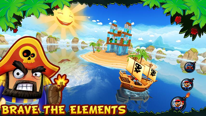 Potshot Pirates 3D Free- screenshot