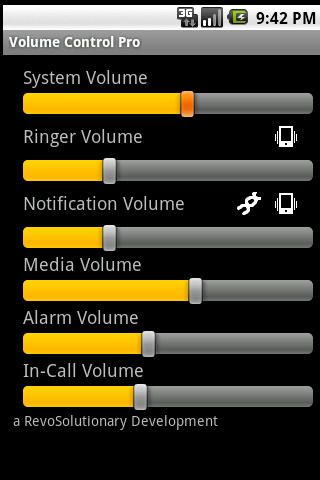 Volume Control Pro - screenshot