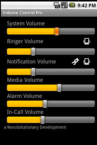 Volume Control Pro - screenshot