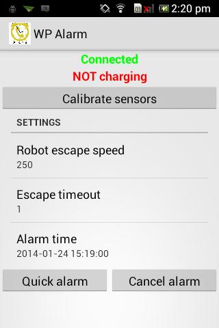 Wheelphone alarm