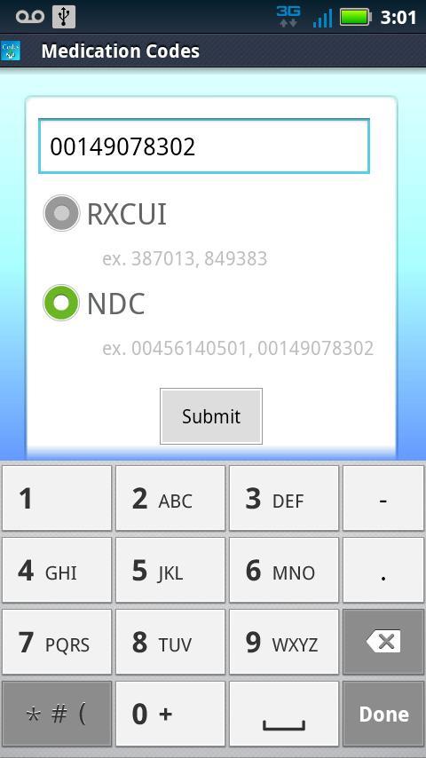 Medical Codes- screenshot