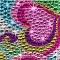 Rhinestone Rainbow Hearts LWP logo