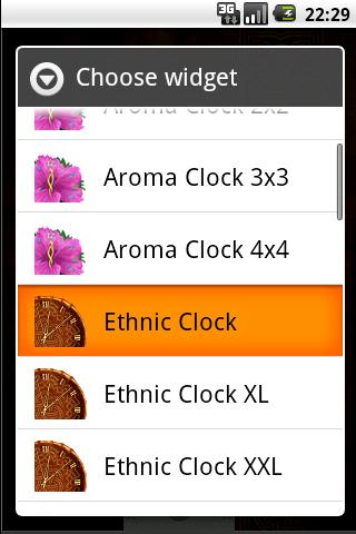 Ethnic Clock - screenshot