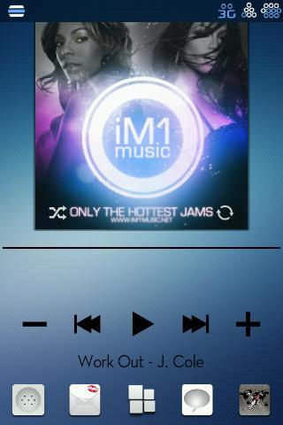 Blue Unity CM7 Theme(Trans)- screenshot