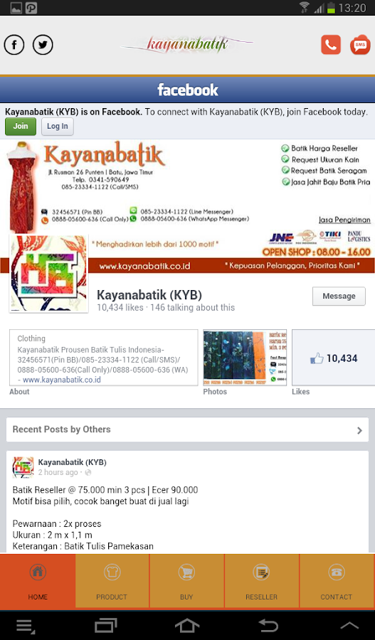 Kayana Batik Store- screenshot