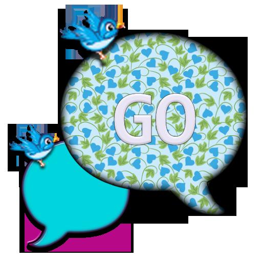 GO SMS THEME/BlueBird4U2 LOGO-APP點子
