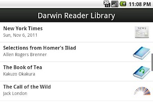 Screenshot of Darwin Reader