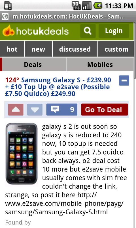 Hot uk deals google search