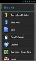 Screenshot of DroidToReader