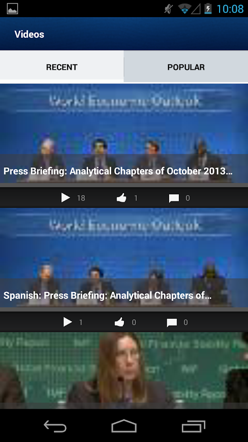IMF/World Bank Spring Meetings- screenshot