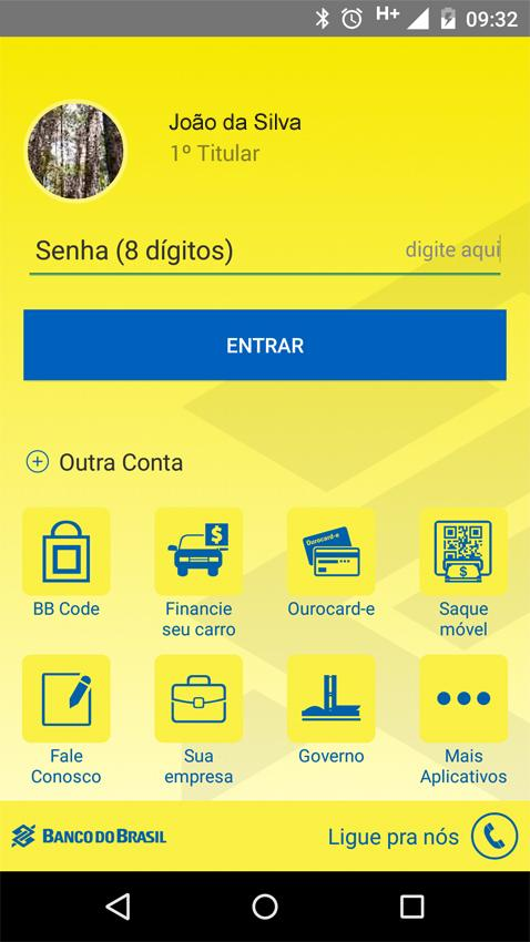Banco do Brasil- screenshot