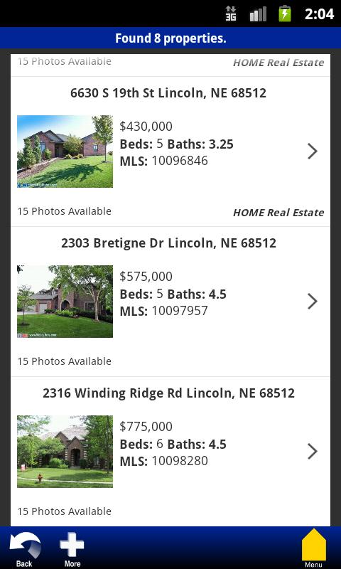 HOME Real Estate - screenshot
