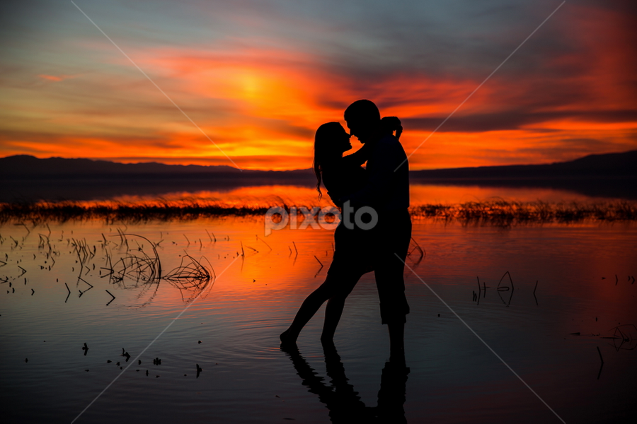 by David Terry - People Couples ( love, enthusiasm, red, passionate, moods, couple hugging, passion, the mood factory, improving mood, inspirational )