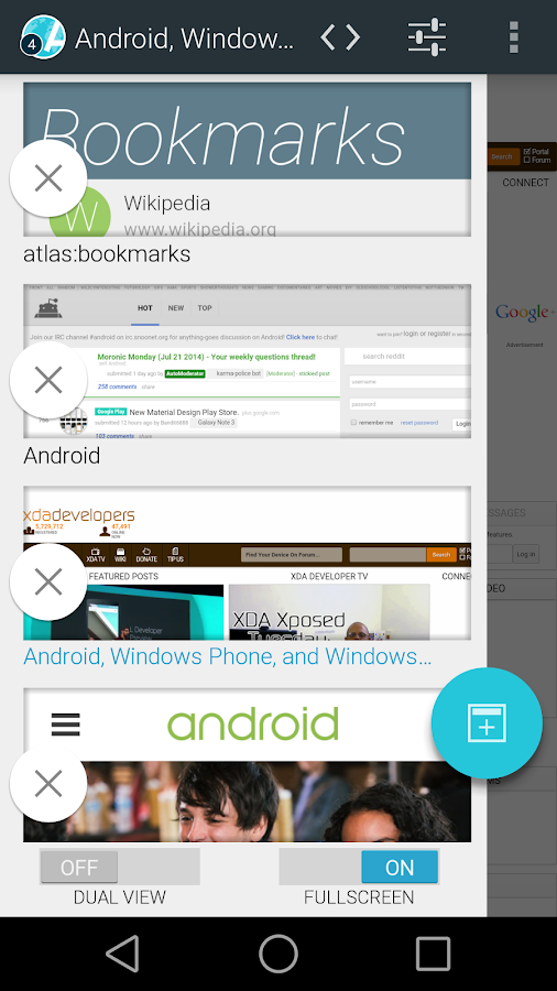Atlas Web Browser - screenshot