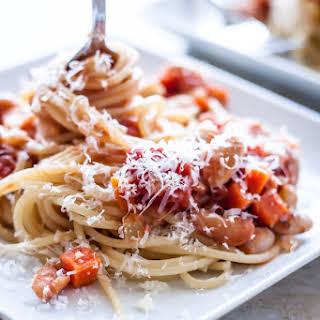 Spaghetti with Cannellini Bean Bolognese.