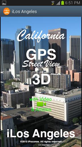 洛杉矶 GPS 街查看 3D