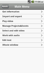 Shortcuts for iMovie