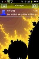 Screenshot of GO SMS Theme Fractal Yellow