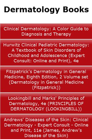 Dermatology Books