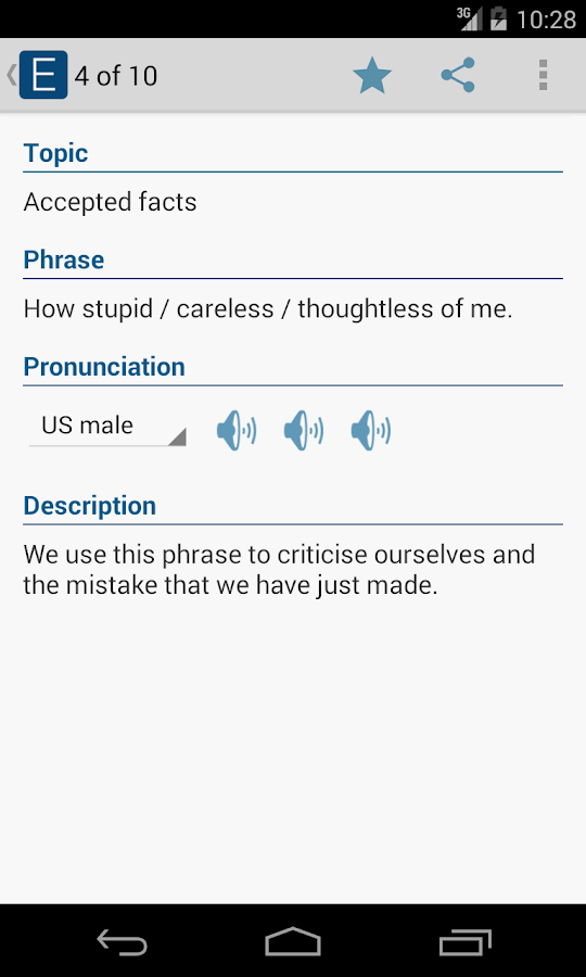 English Useful Expressions - screenshot