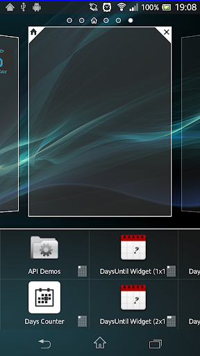Days Counter widget.