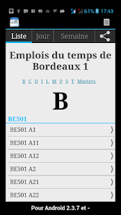University Bordeaux Schedule- screenshot thumbnail