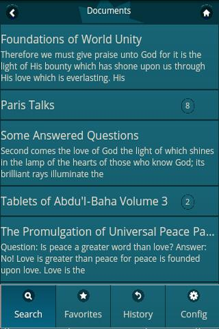 Bahai Web Search (Baha'i)- screenshot