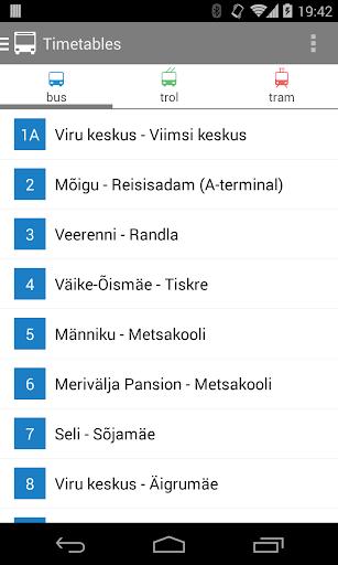 Tallinn Transport - timetables