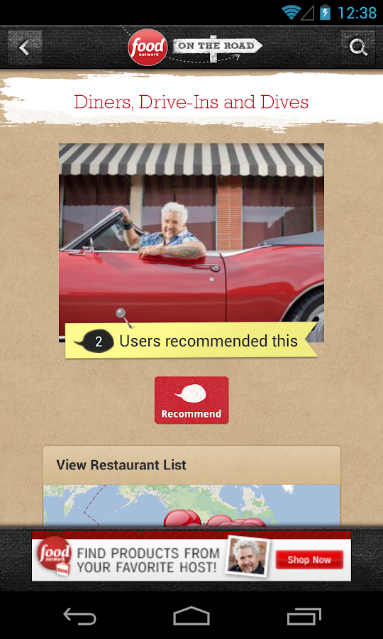 Food Network On the Road - screenshot