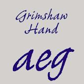 Grimshaw Hand FlipFont