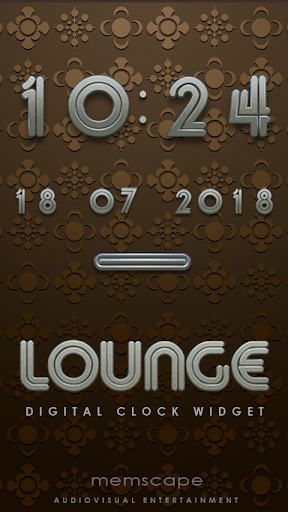 LOUNGE Digital Clock Widget