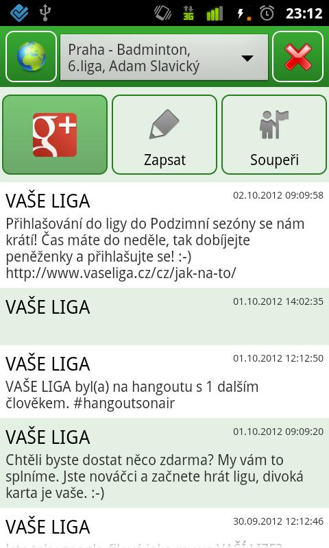 VAŠE LIGA - screenshot