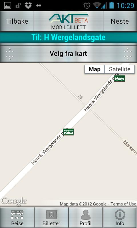 Akt Mobilbillett - screenshot