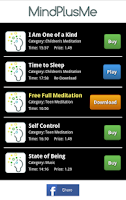 Screenshot of MindPlusMe Meditations