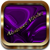 Abstract Violet Go Launcher EX