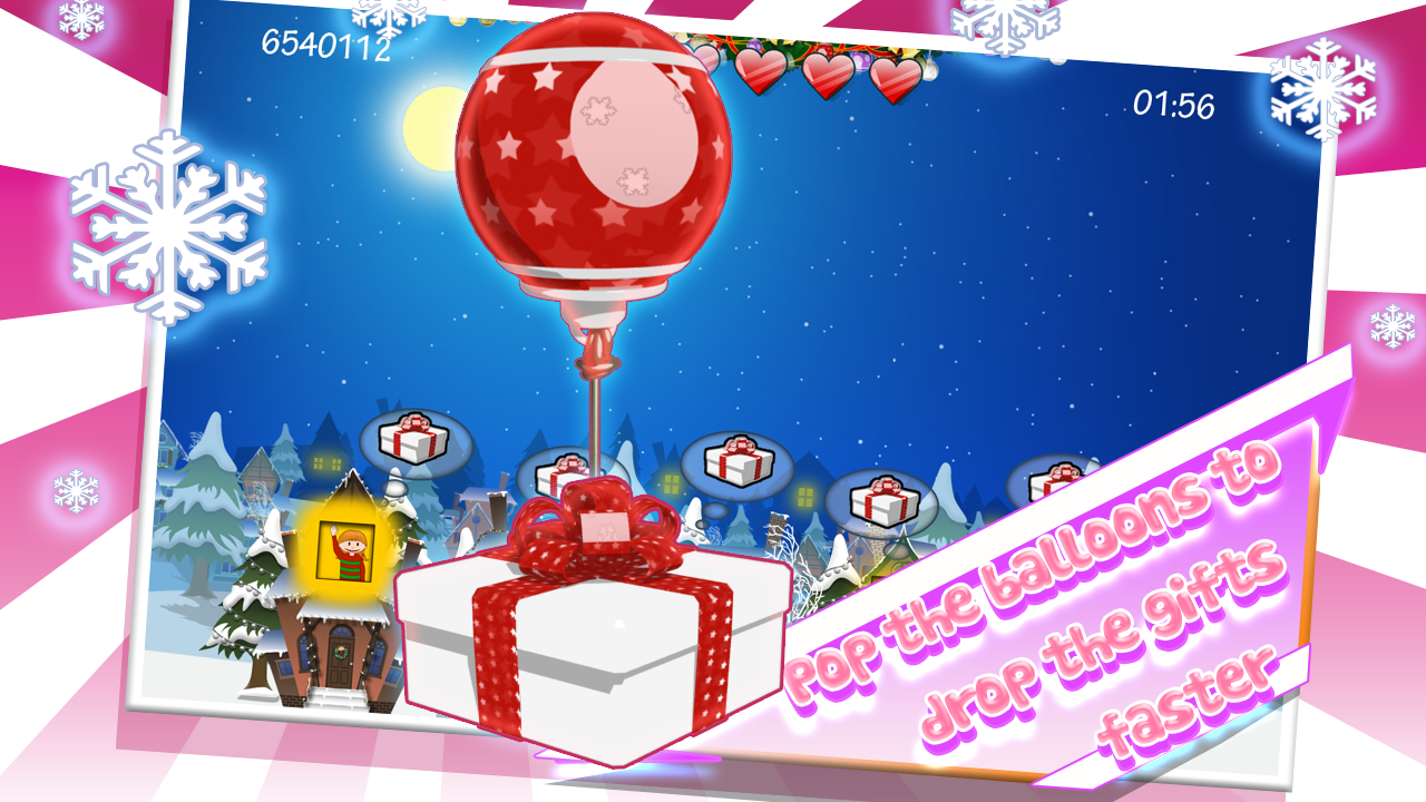 Santa Floating Gifts HD - screenshot
