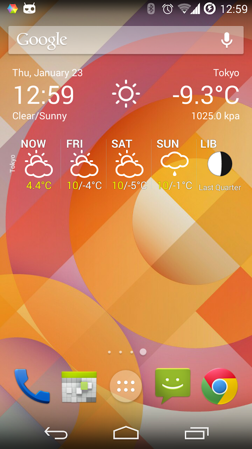 Weather Forecast Widget - screenshot