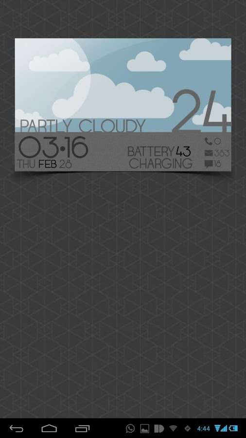 WEATHER CARDS UCCW MNIMALSKIN - screenshot