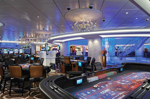 Norwegian-Getaway-Casino - Feeling lucky, punk? Head to Norwegian Getaway's Casino, one of the largest casinos on the high seas, offering Texas Hold' Em, blackjack and much more.