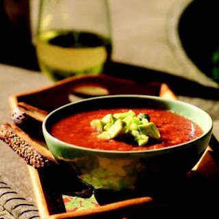 Chilled Tomato And Avocado Soup