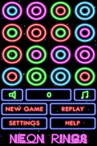 Puzzle Neon Rings - screenshot