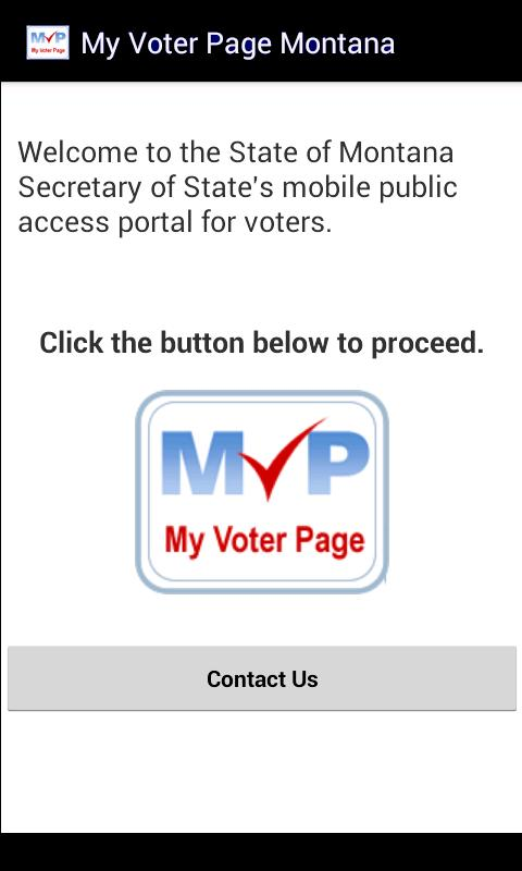 My Voter Page Montana- screenshot