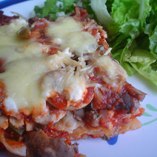 Vegetable and Meat Lasagne.